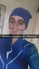 Sportacus cosplay practise (unfinished) (Fablesandzombies) Tags: sportacus cosplay lazytown