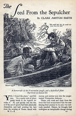 Weird Tales 5 (kevin63) Tags: lightner internetarchive magazine pulp fiction horror sciencefiction fantasy 1930s 30s thirties robertehoward hplovecraft clarkastonsmith illustration story blackandwhite penandink seedfromthesepulcher