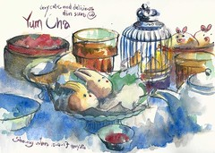Sketching Dim Sum (Gary Yeung HK) Tags: urbansketchers central yum cha