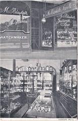 M. Blasbalk, Jeweller, in Albury, N.S.W. 1907 (Aussie~mobs) Tags: vintage australia newsouthwales deanstreet albury watchmaker jeweller shop store mblasbalk 1907