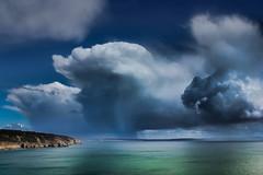 Hail! (snowyturner) Tags: showers hail france brittany landscape bay coast april clouds