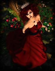 Princess Red - Fantasy Faire 2017 (Anna_Angelica) Tags: soul fundraising fantasyfaire fantasy fantasyfaire2017 fair secondlife sl ashbourneco lesencantades theplastik pinkfuel dva princess queen gown formal