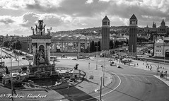 Barcelona (frederic.gombert) Tags: city spain catalogne place espana cityscape mediterranee black white sony street downtown museum