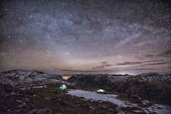 Glencoe Nights (bradders29) Tags: glencoe summit buachailleetivebeag grahambradshaw stars night galaxy tent stobcoireraineach scotland bideannambian bennevis