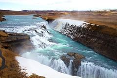 Where But Iceland? (Herculeus.) Tags: iceland waterfalls ice snow spring outside outdoors outdoor landscape river mist rapids rock canyon hills goldencircle 5photosaday water gullfoss