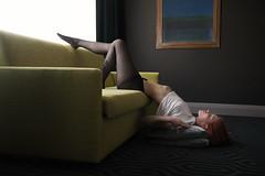 Couch Surf (Barry_Madden) Tags: helsinki model photoshoot roosak alternativemodel female finnish finnishgirl hotel hotelroom inkedgirls orangehair portraitphotography portraits portraits2017 redhead shorthair tattoo woman youngwoman
