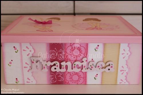 "Caixa para ganchinhos ""La Petite Ballerine Enchantée II"""