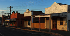 Grenfell Gold (Darren Schiller) Tags: grenfell abandoned architecture building closed derelict disused decaying deserted empty evening facade history heritage newsouthwales old panorama rural rustic rusty smalltown sunset shop store verandah
