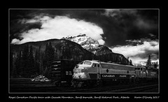 Royal Canadian Pacific train with Cascade Mountain, Banff townsite, Banff National Park, Alberta (kgogrady) Tags: banffnationalpark banfftownsite cascademountain landscape royalcanadianpacifictrain spring banff alberta canada