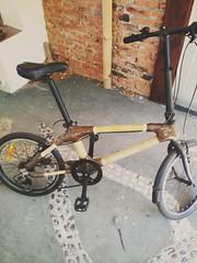 Folding bamboo bike