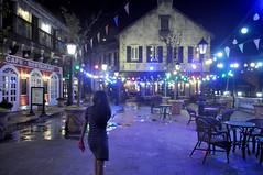 Night in the village (Roving I) Tags: villagesquares nightlife lighting cafes restaurants dining outdoorfurniture lanterns architecture tourism banahills frenchvillage danang vietnam