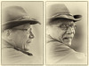 Bavarian Cowboy - Portrait (W_von_S) Tags: cowboy portrait sw schwarzweis blackwhite monochrome einfarbig bavaria bayern flickr flickrmeeting flickrtreffen wasserburg wasserburgaminn people menschen porträt