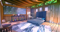 Hideaway (ChaosFear) Tags: second life virtual sl bed bright escape dreaming