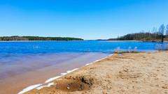 Shore of the beautiful lake