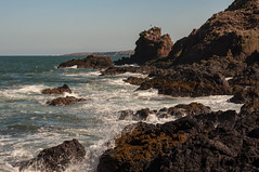 St Abbs, Scottish Borders [Explored: Thank you!] (Suzanne L Russell) Tags: seascape rocks northsea stabbs scottishborders scotland 50mmf18