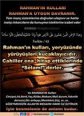 Kerim Kur'an - Furkan 63. (Oku Rabbinin Adiyla) Tags: allah kuran islam ayet ayetler ayetullah verse god religion bible jesus church toraj mosa muslim rahman oku