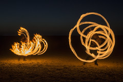 Fire Fighting (David Chennell - DavidC.Photography) Tags: fire firespinning wirral merseyside westkirby beach night firefighting firefight hotpotatocircus