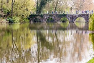 Lovers Bridge in Bruges, Belgium