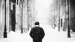 Untitled (Alex Cruceru) Tags: street streetphotography streettogs stradal monochrome mono blackwhite bw candid winter snowing nikond3100 nikon d3100 cityscape city urban architecture white