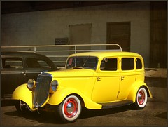 Yellow Ford (novice09) Tags: backtothefifties carshow ford sedan streetrod 1934 ipiccy whitewalls