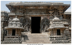 Temple Entrance (vatsaraj) Tags: halebidu halebeedu temple stonework stonetemple stonearchitecture hoysala hoyasala nikon d300 vatsaraj cvatsaraj