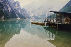 Italy_LagoDiBraies_Wide1_Full (rocinante11) Tags: lake lago reflections reflection italy italia dolomites dolomiti mountains boat boathouse