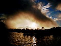 Moody Sky (Orion 2) Tags: canoeing october pond newfoundlandandlabrador canada gettingdark moody