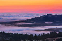 Summer Sunset (Jaykhuang) Tags: sunset summer lowfog layers russianridge windyhill sandhill menlopark santacruz southbay jayhuangphotography cloudsea
