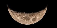 Crescent Moon - June 28 2017 (atgc_01) Tags: lumix lx3 afocal telescope 102 refractor plossl32 barlow