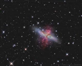 The Cigar Galaxy, M82 with my  AG14