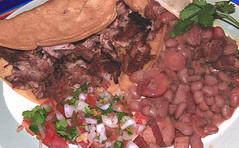 Carnitas_y_Frijoles-m (Guyser1) Tags: food carnitas frijoles beans mexicanfood salsa westyellowstone canoneos7d