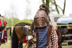 Yeah! (El Mariachi Minsk) Tags: canon7d canon canoneos canonllens canonlens canonef70200mmf28lis helmet gauntlet armor medieval festival europeanfestival festivals europe european europeanhistory belarus minsk funny fun boy boys child children carnival history historical armour