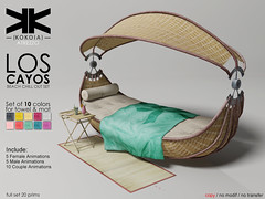 Atrezzo :: Los Cayos ({kokoia}) Tags: cayos wooden wood table mat garden furniture sofa terrace mojito chair anims paypay daiquiri beach summer chillout set deckchair towel second life outdoor couches virtual mesh 3d