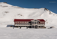 The Shining - hotel closed (jerry_lake) Tags: 14thmarch2017icelandcamb d750 fotobuzz iceland iceland2017 theshining hotel mountains snow polariser nikon2470mmf28