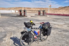 Petrol station stop in the Sahara = coke and water fill up.