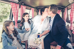 Just Married (Jan Moons) Tags: wedding married children kids man woman love kiss vw campervan oldschool van volkswagen haacht belgium