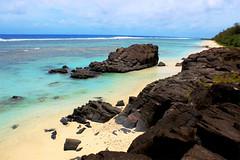 Point of view on Tuoro (Raphaëlle Gagnon-Durand) Tags: tuoro black rock departure point spirits maori basalt ancient stone beach ocean pacific rarotonga cook islands history puaikura sand shore coast sea
