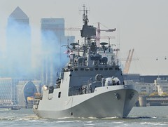 INS Tarkash F50 (2) @ Woolwich Reach 10-05-17 (AJBC_1) Tags: london ship boat vessel dlrblog england unitedkingdom uk ©ajc eastlondon nikond3200 indiannavy warship navy navalvessel talwarclassfrigate frigate guidedmissilefrigate military shipsinpictures militaryvessel instarkash f50 woolwichreach riverthames northwoolwich newham londonboroughofnewham ajbc1