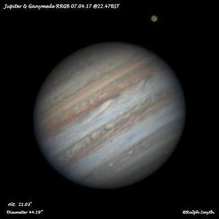 Jupiter & Ganymede RRGB Image 7.04.14  @22.47BST