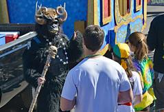 Scary Monkey (BKHagar *Kim*) Tags: bkhagar mardigras neworleans nola la louisiana parade party carnival street napoleon day outdoor kreweoftucksparade beads throws organgrinders monkey ape uptown