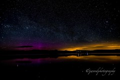 Northern lights over Usk (benw9271) Tags: colours stargazing night landscape 5dmarkiv canon longexposure brecon breconbeacons southwales milkyway water stars sky nightskyline uskreservoir northernlights wales