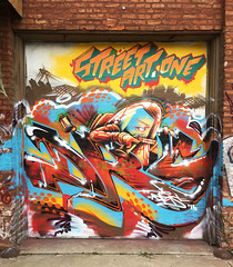 Street Art One (wiredforlego) Tags: graffiti mural streetart urbanart aerosolart shutter logansquare chicago illinois ord