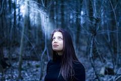 Light in uncertainty (Meastrology) Tags: portrait canon glow girl lady woman eyes beauty bokeh beautifull blue eye uncertain uncertainty