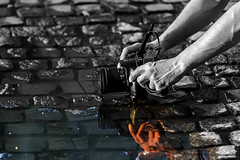 On the other side of the puddle (Paweł Szczepański) Tags: bucurești municipiulbucurești romania ro pinnaclephotography legacy trolled shockofthenew exoticimage ruby3 sal70200g