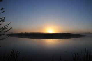 Sonnenaufgang an der Alten Treene-Schleife in Süderhöft; Nordfriesland (8)