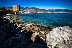 On the rocks (Melissa Maples) Tags: alanya turkey türkiye asia 土耳其 亚洲 nikon d5100 ニコン 尼康 sigma hsm 1020mm f456 1020mmf456 spring roman ancient ruins hill alanyacastle castle mediterranean sea water beach kızılkule rocks