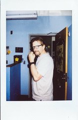 001-7 (G.Clark Photography) Tags: instax mini fujifilminstaxmini90neo fuji instant film scans friends patrick break room