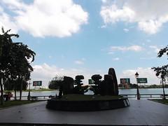 River Side (tam_tranhuu) Tags: river saigon hochiminhcity cloud sky advertise heniken trees
