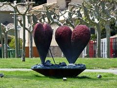 Jim Dine - Coeur (Thethe35400) Tags: pampelune pamplona sculpture escultura eskultura skulptur estatua scultura scukpture paire duo deux coeur heart corazon coração cuore croí