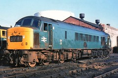D11 later to become 45122 on Gloucester Horton Road (Ixion172) Tags: gbrailways ukrailways sulzer sulzer12lda28b brblue brbluelivery d11 class45 45122 gloucesterhortonroad monastralblue